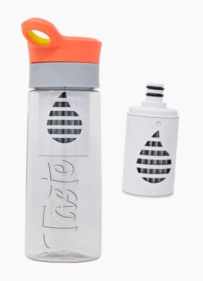 Botella Purificadora Doulton Taste Durazno 500mL + Filtro de Repuesto